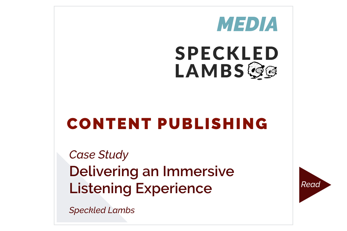 Delivering an Immersive Listening Experience (Speckled Lambs)
